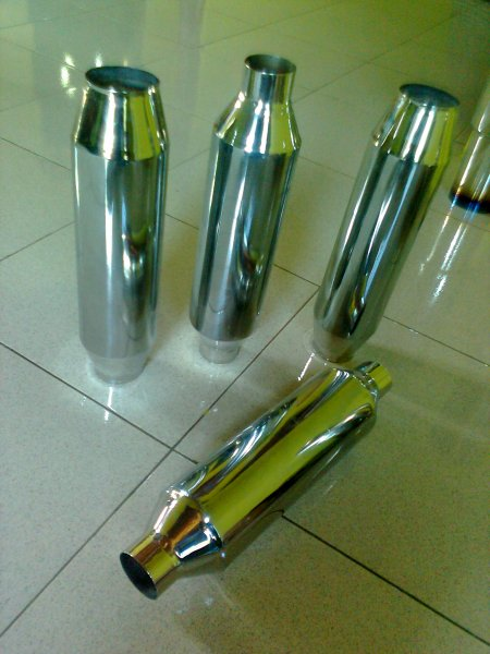 Resonator Stainless STARBO Harga Knalpot Mobil HKS BURN TIP, HKS Hi Power, HKS Silent Replika