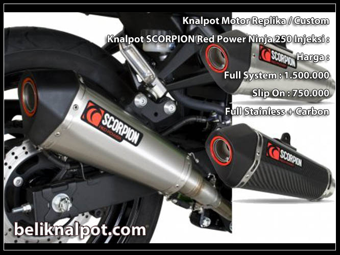 Knalpot SCORPION Red Power ninja 250 cc Jual Knalpot Ninja ER6 Scorpion Red Power