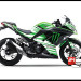 Jual Sticker Decal NINJA 250 Injeksi Hijau Green Monster Energy