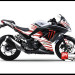 Jual Sticker Decal NINJA 250 Injeksi Putih Red Monster Energy