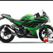 Jual Sticker Digital Printing Ninja 250 Fi HIjau Green Line