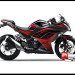 Jual Sticker Digital Printing Ninja 250 Fi Hitam red Line
