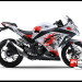 Jual Sticker Printing NINJA 250Fi Putih Splash Ink Red