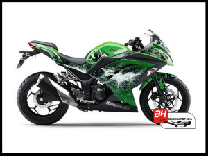 Murah Sticker Ninja 250 FI Hijau Batman V1 Green