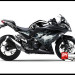 Murah Sticker Ninja 250 FI Hitam Batman V1 Black