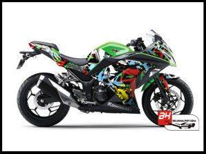 Sticker Cutting Ninja250 FI Hijau Freestyle