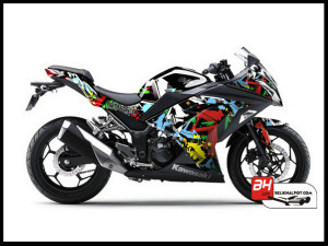 Sticker Cutting Ninja250 FI Hitam Freestyle