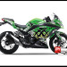 Sticker Decal Ninja 250 Injeksi Hijau Moto xXx Green