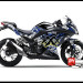 Sticker Decal Ninja 250 Injeksi Hitam Moto xXx Black Blue