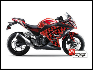 Sticker Digital Ninja 250 Fi Merah icon Sevcon