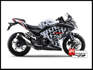 Sticker Digital Ninja 250 Fi Putih icon Sevcon