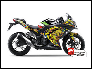 Sticker Digital Ninja 250 Injek Hitam THE DOCTOR SUN MOON