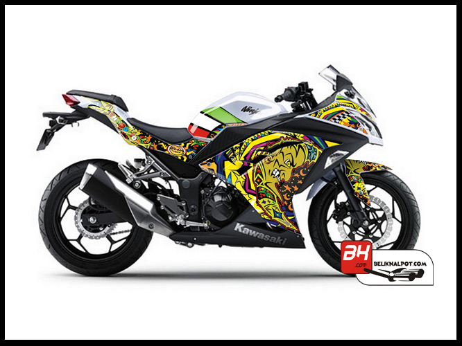 Sticker Digital Ninja 250 Injek Putih THE DOCTOR SUN MOON