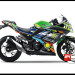 Sticker Modifikasi Ninja 250 FI Hijau Rossi Monster Livery