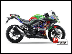Jual Sticker Ninja 250 Fi - Digital Printing Cutting