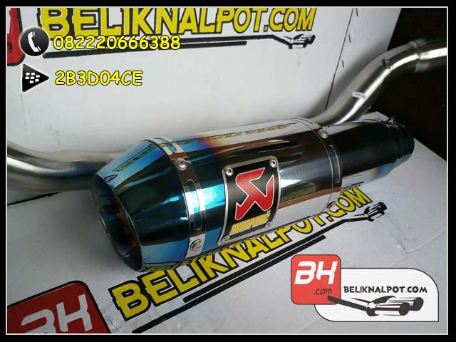 Harga Knalpot Racing MX King Akrapovic Lorenzo GP Half blue