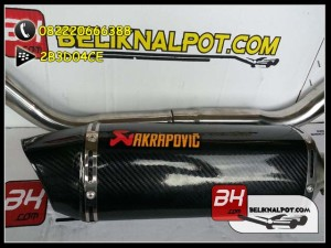 Knalpot Racing New Vixion Advance Akrapovic Carbon