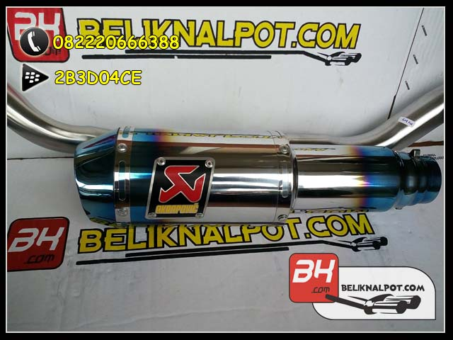 Knalpot Racing MX King Akrapovic Lorenzo GP Half blue