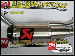 Knalpot Racing New Vixion Advance Akrapovic Lorenzo GP Titan